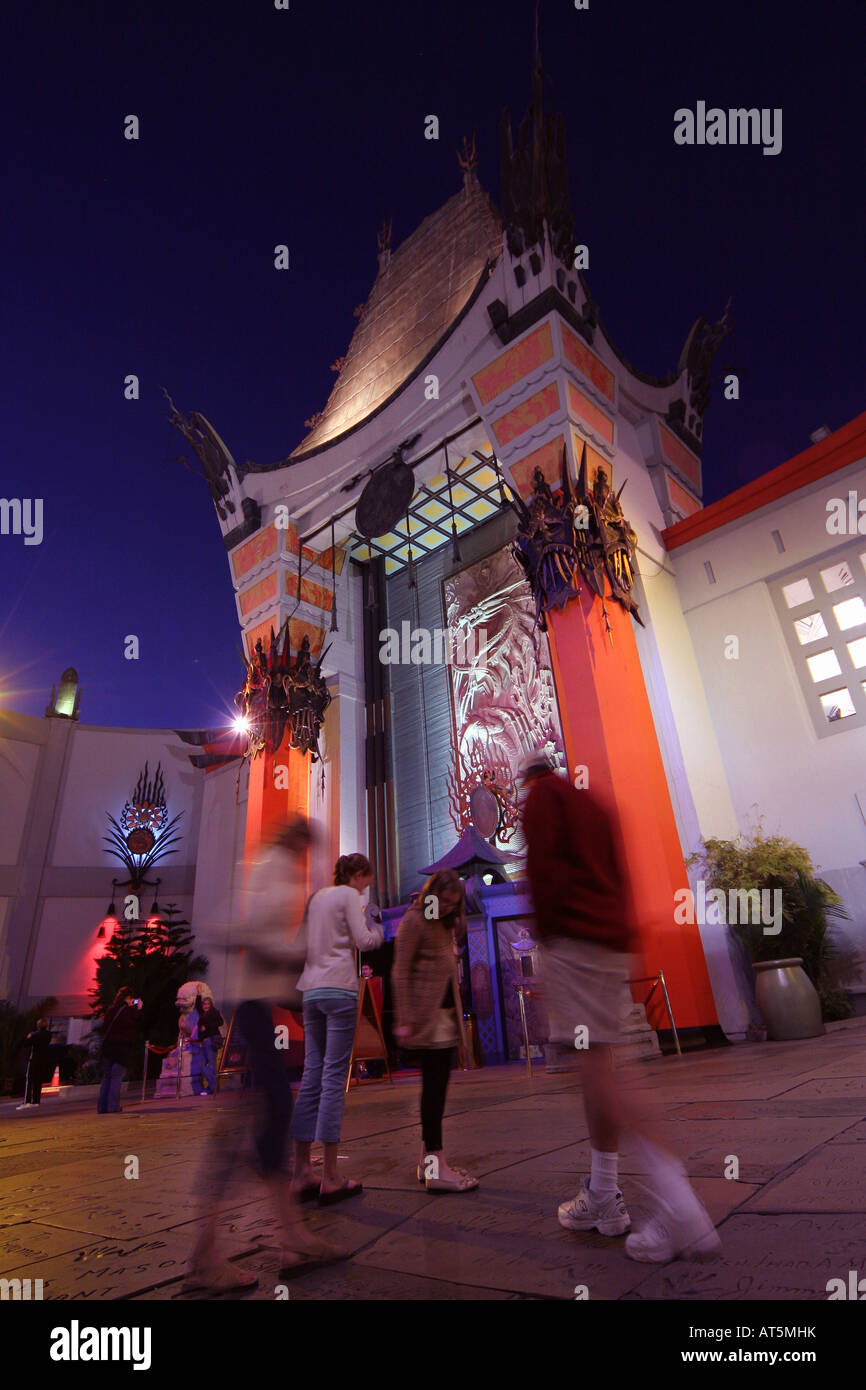 Graumans Chinese Theatre Hollywood Los Angeles - Stock Image