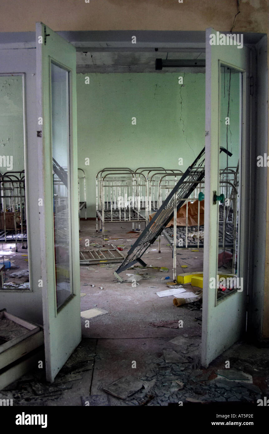 playschool in Prypiat (Chernobyl), Ukraine. 19 years after disaster. - Stock Image