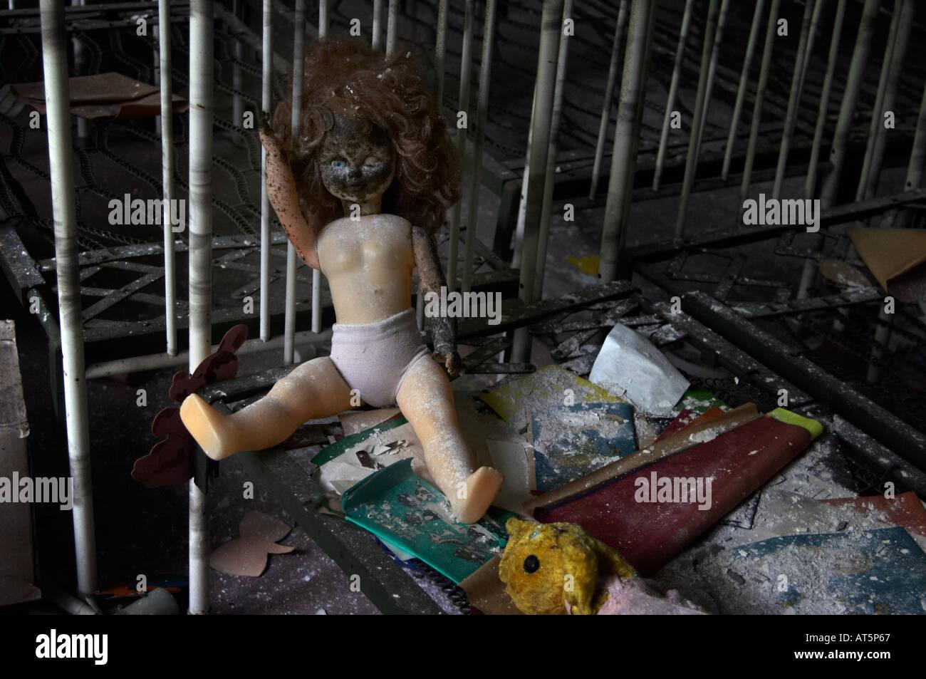playschool in Prypiat (Chernobyl), Ukraine. - Stock Image