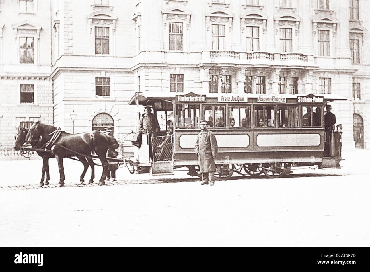 Volksbilder Straßenbahn 1900 - Stock Image