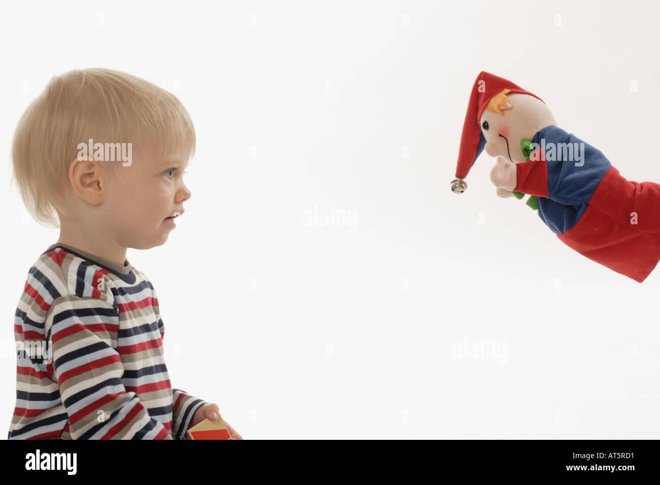 Kasperl und Kind - Stock Image