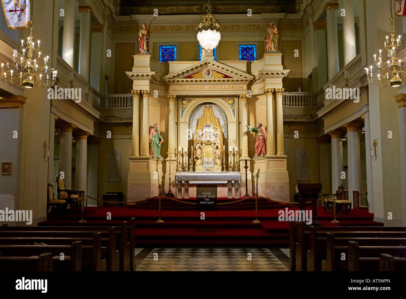 altar inside st louis cathedral new orleans louisiana usa stock