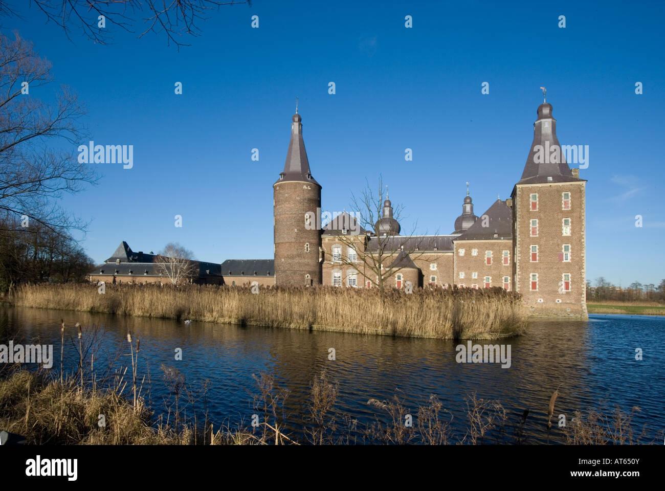 Schloss Hoensbroek in Heerlen Niederlande - Stock Image