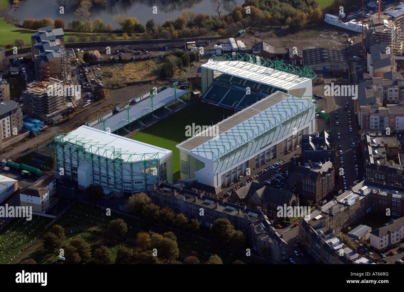 Easter Road, Hibernian Football Stadium in Edinburgh Stock Photo