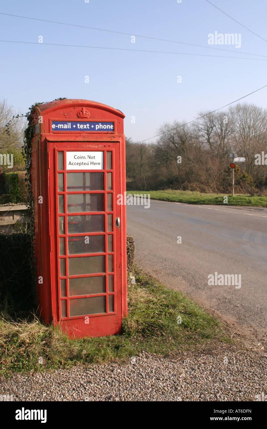 Red Telephone Box UK - Stock Image