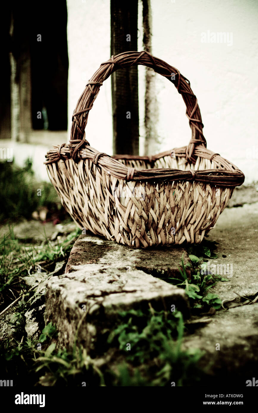 Wicker Basket, close-up Stock Photo