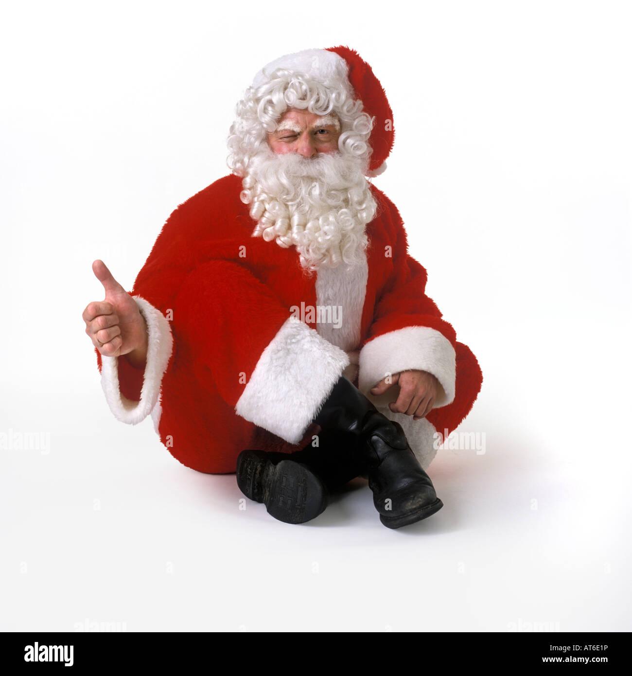 Santa Claus on white background - Stock Image