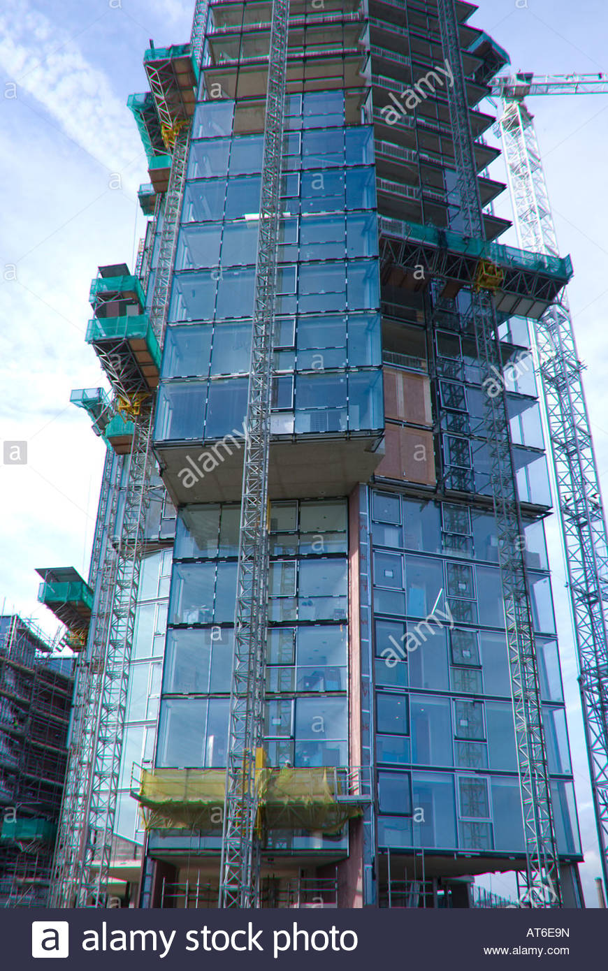 Islington Wharf, Ancoats, East Manchester - under construction 2008 - Stock Image