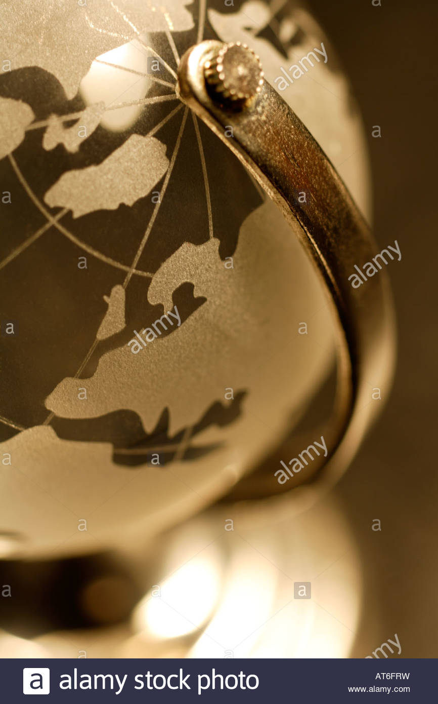 Globe, close-up - Stock Image