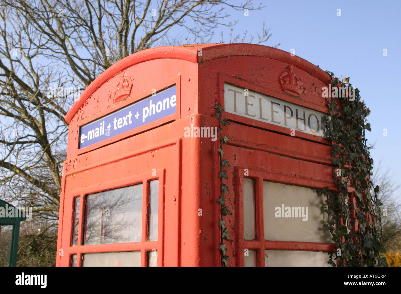 Red Telephone Box UK - Stock Image