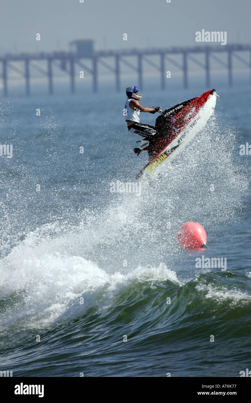 Jet Ski Freestyle At World Championships Oceanside Beach Los