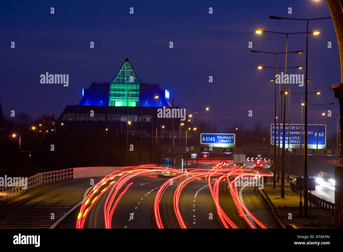M60 Motorway, Stockport Pyramid . Stockport, Greater Manchester, United Kingdom. - Stock Image