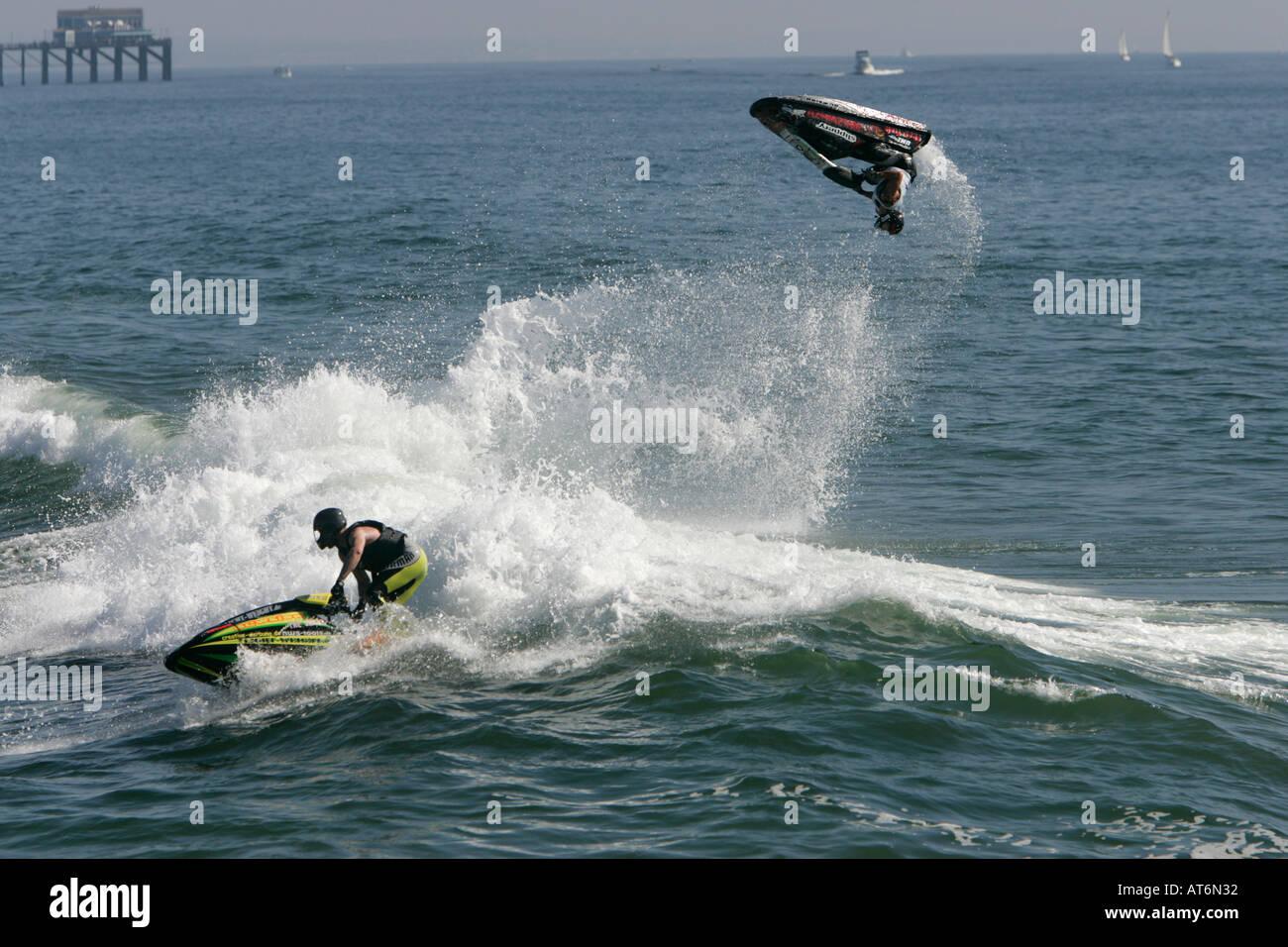 World Jet Skiing At Oceanside Beach Los Angeles California