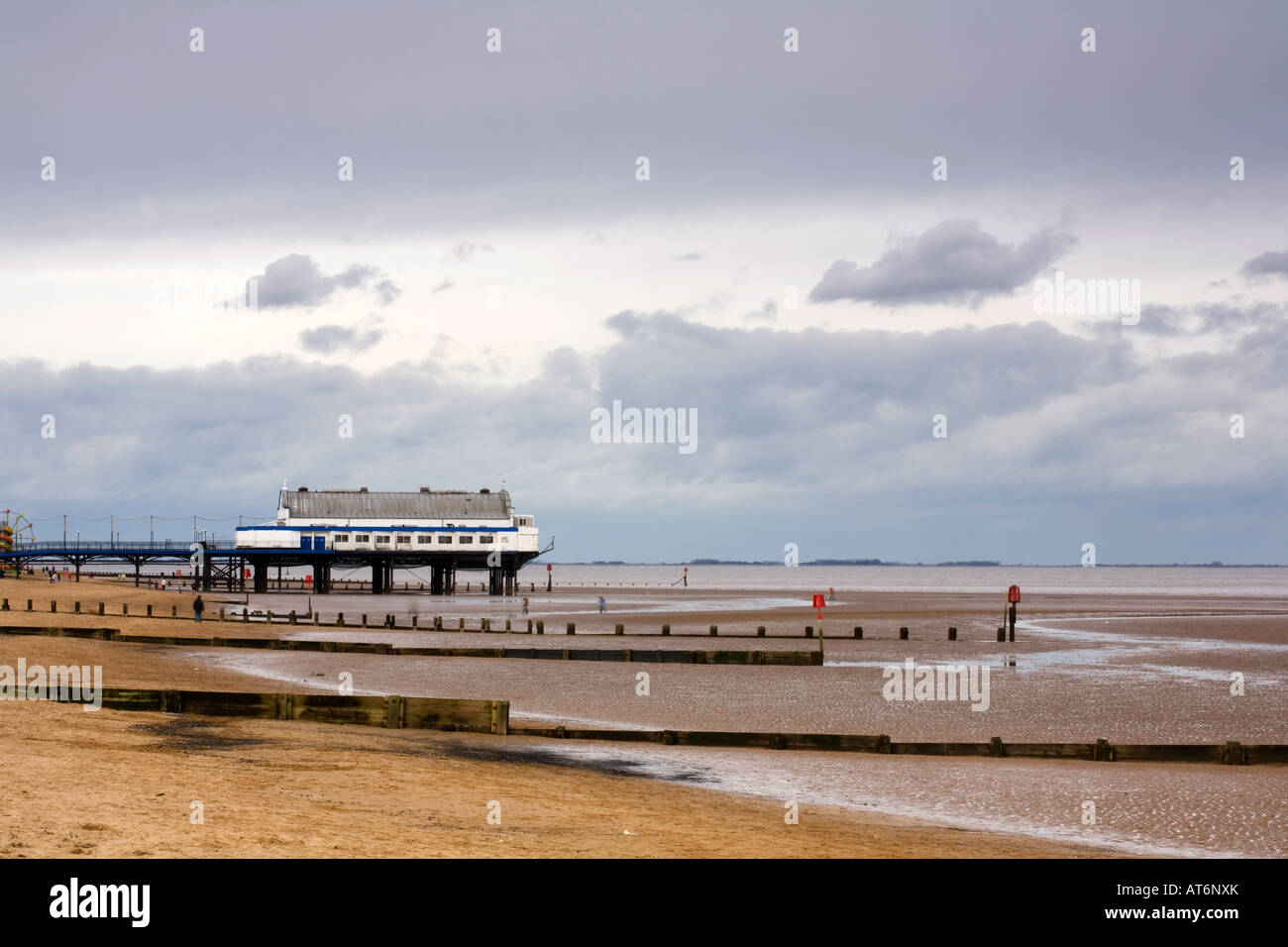 Cleethorpes Pier North East Lincolnshire Coast Stock Photo