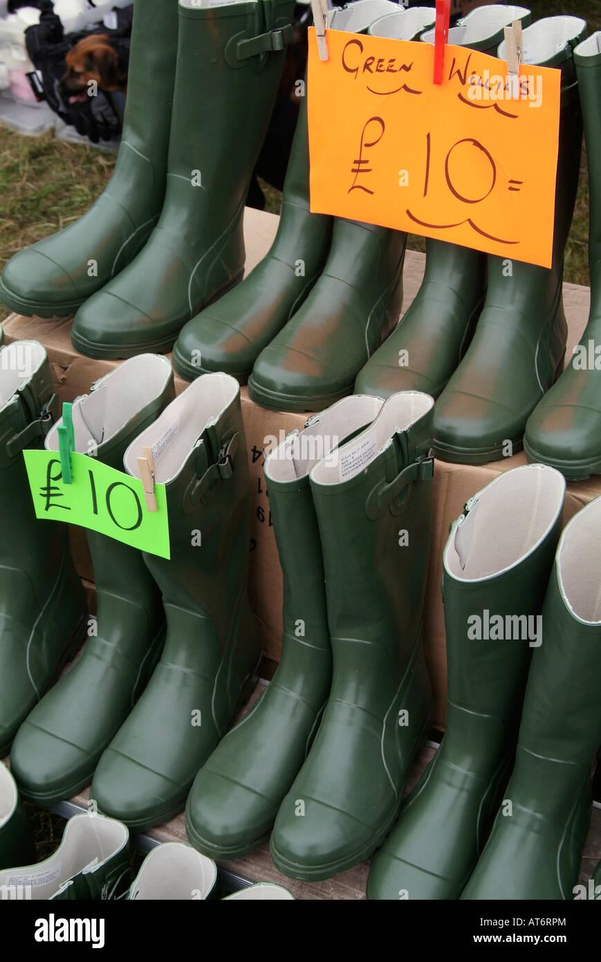 welly boot wellington rubber shoe footwear foot Stock Photo