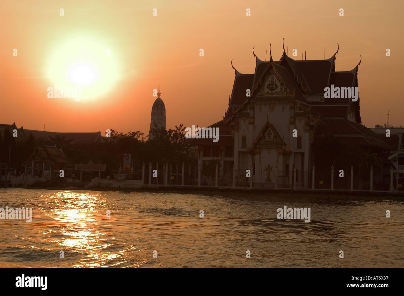 Wat Rakang Kositaram temple Bangkok Thailand South East Asia - Stock Image