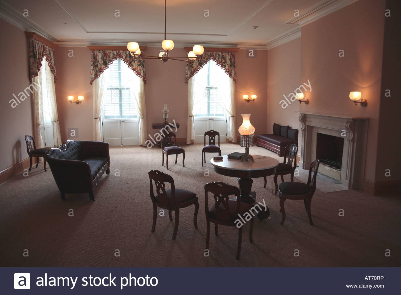 Peachy Parlor At The Lincoln Cottage In Washington Dc Stock Photo Download Free Architecture Designs Barepgrimeyleaguecom