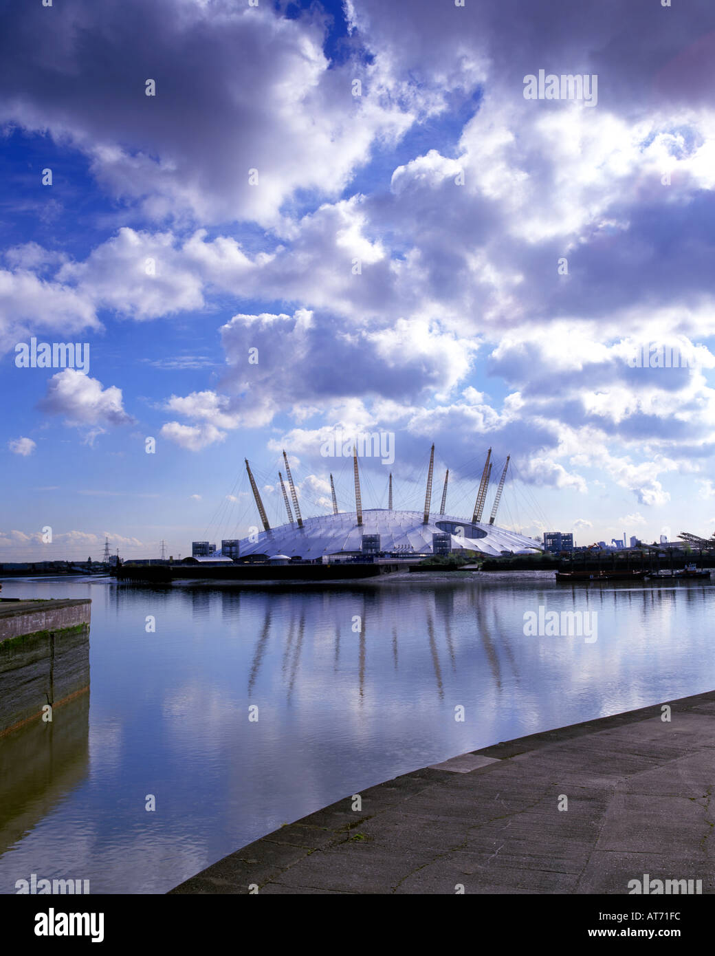 O2 arena Millennium Dome in London UK - Stock Image