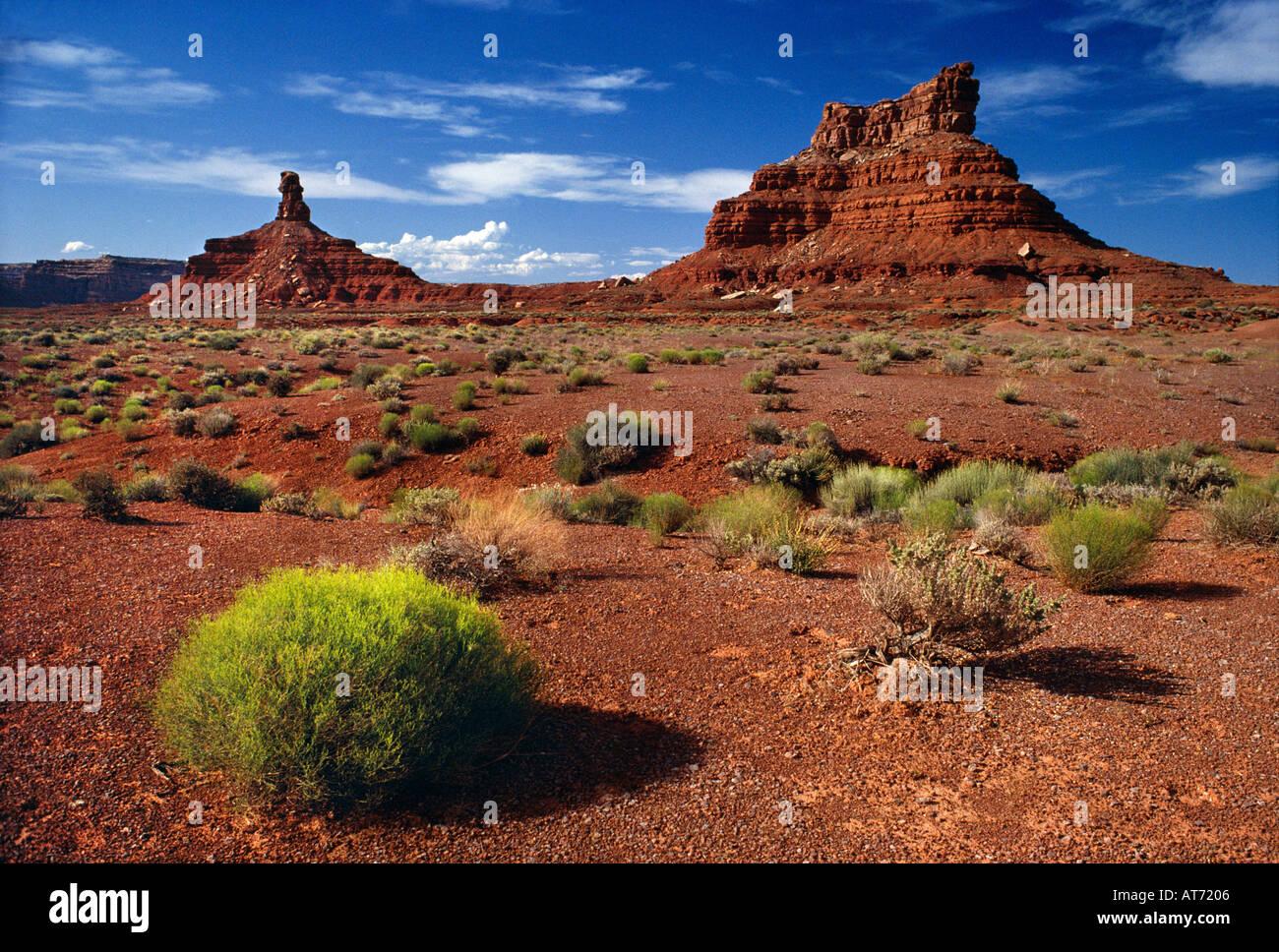 Valley of the Gods near Bluff San Juan Co Utah USA - Stock Image