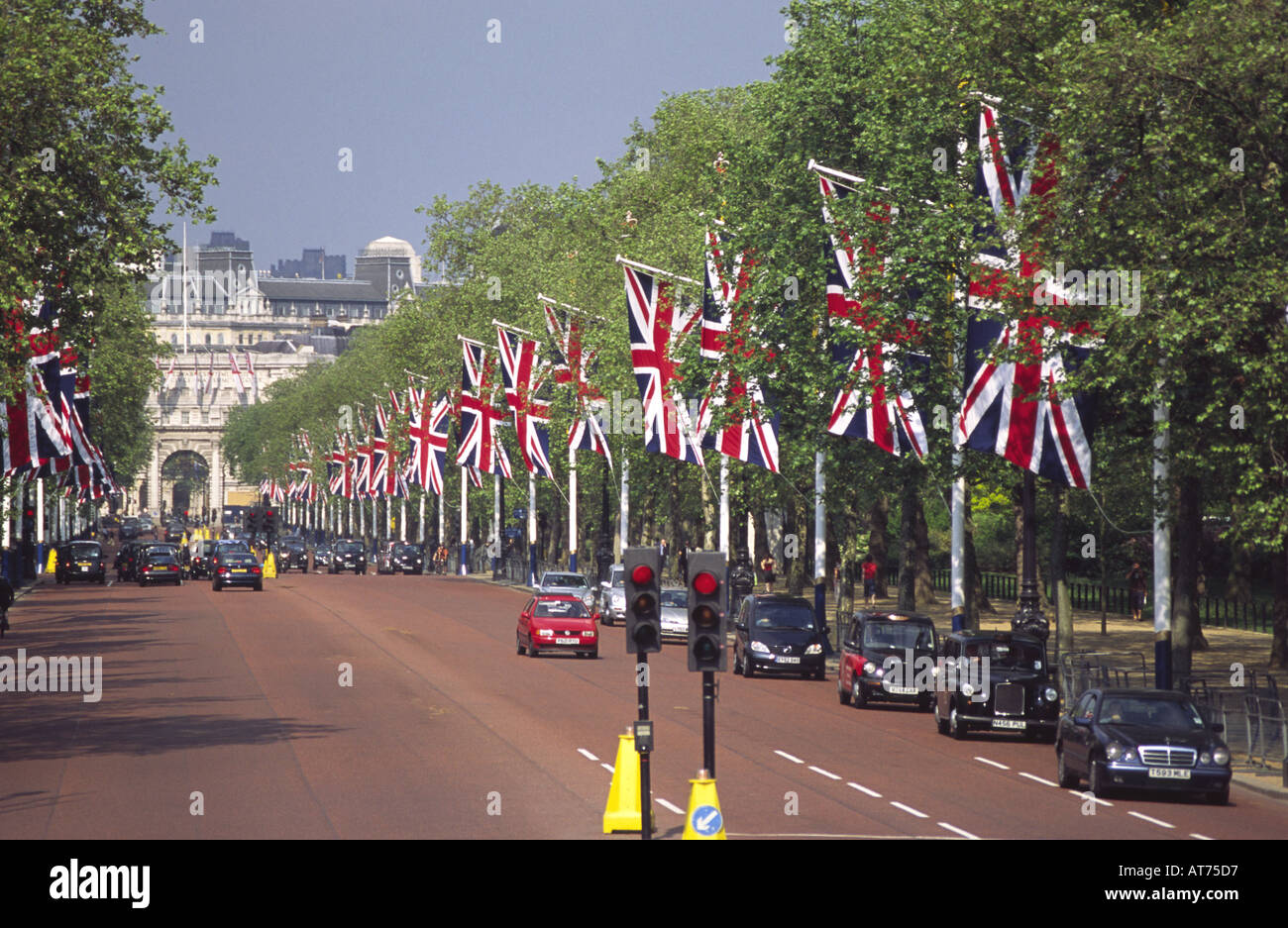 London Cabbies driving along the Mall in London England UK Stock Photo