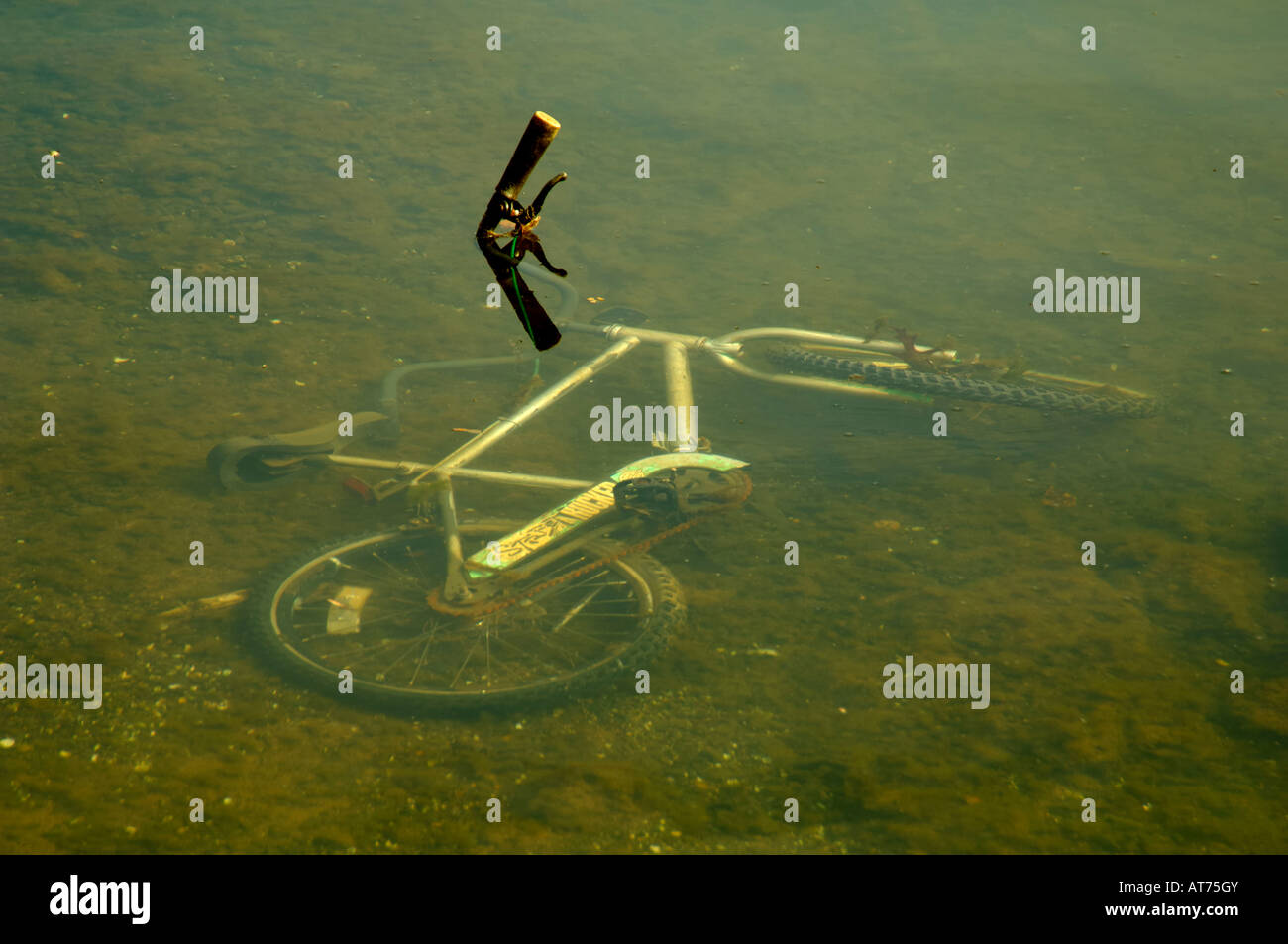 This bicycle was stolen and later found underwater in Holston River