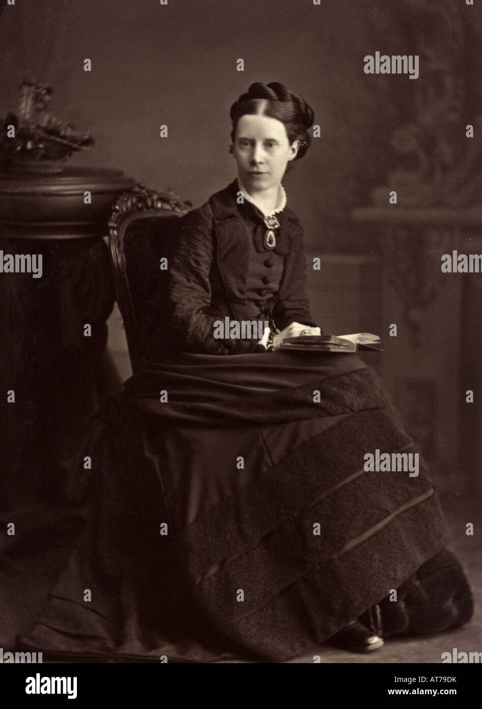 1890s Victorian photograph of a lady - Stock Image
