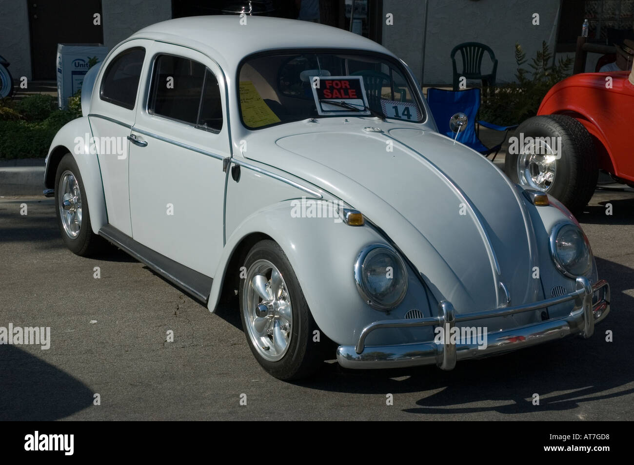Los Angeles California Car Show Antique Customized Volkswagen VW Beetle 64  1964   Stock Image