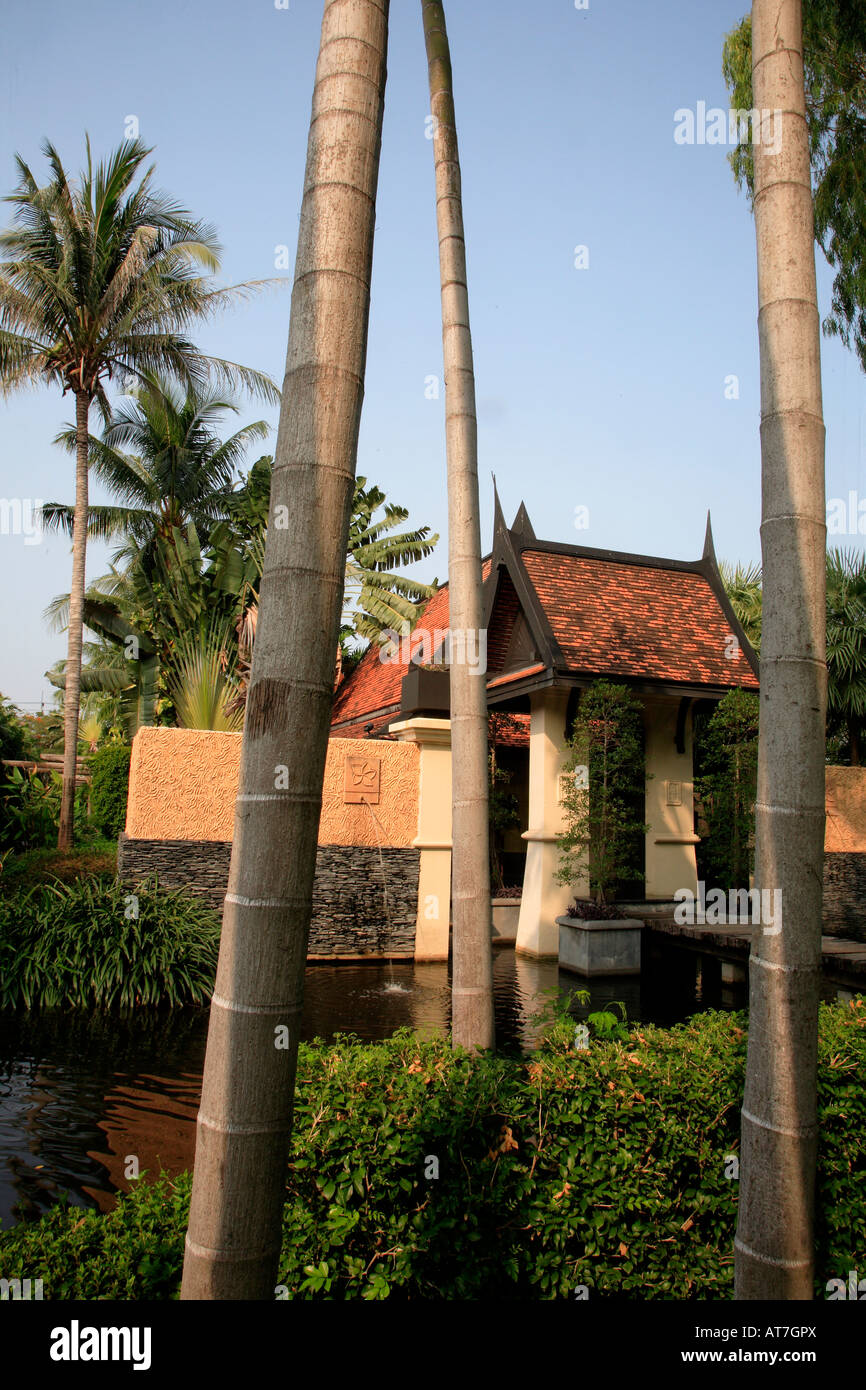 Thailand Hua Hin Marriott Resort Hotel Amara Spa Garden Stock Photo