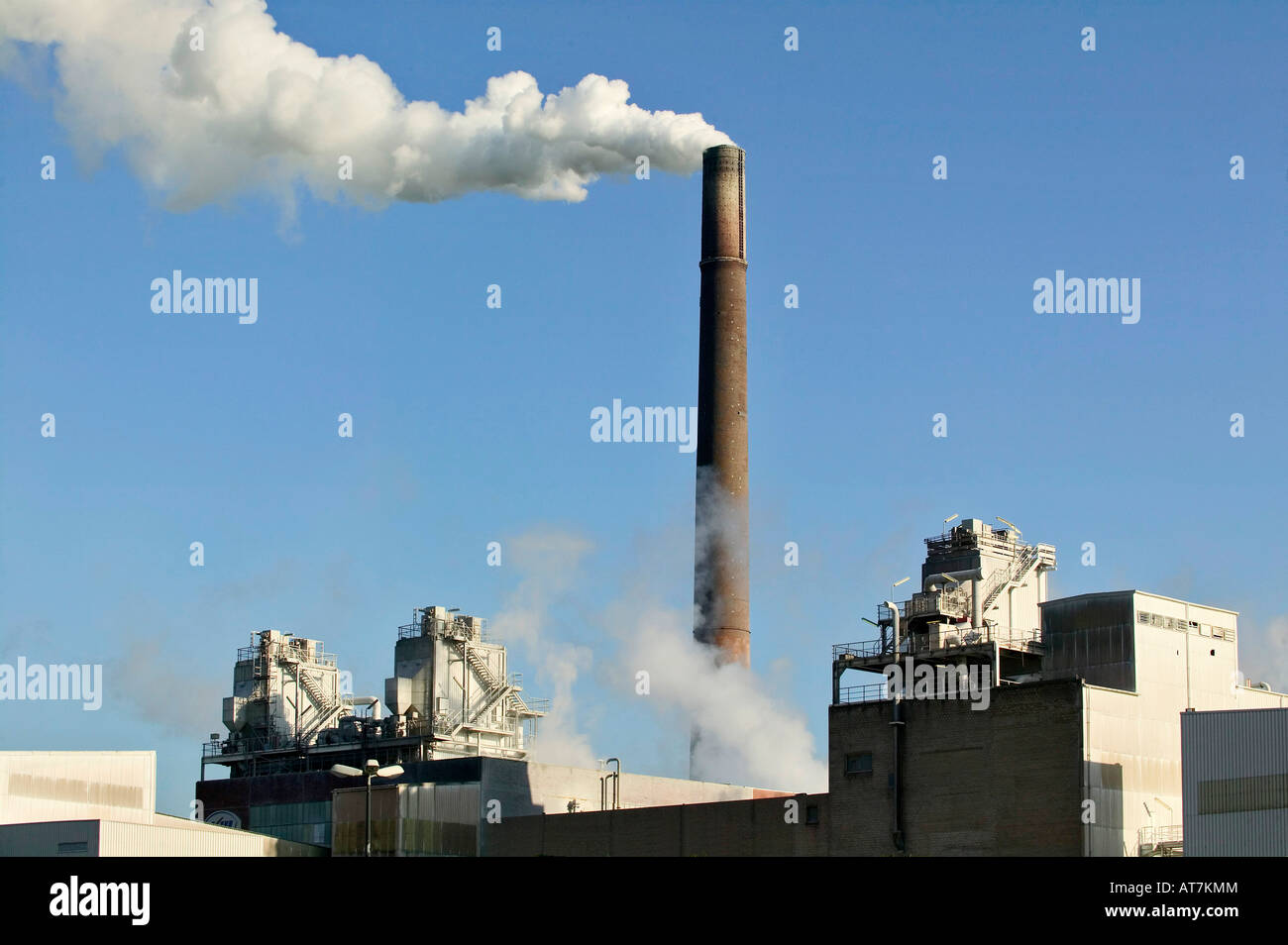 chemical industry plant Bayer Uerdingen Germany - Stock Image