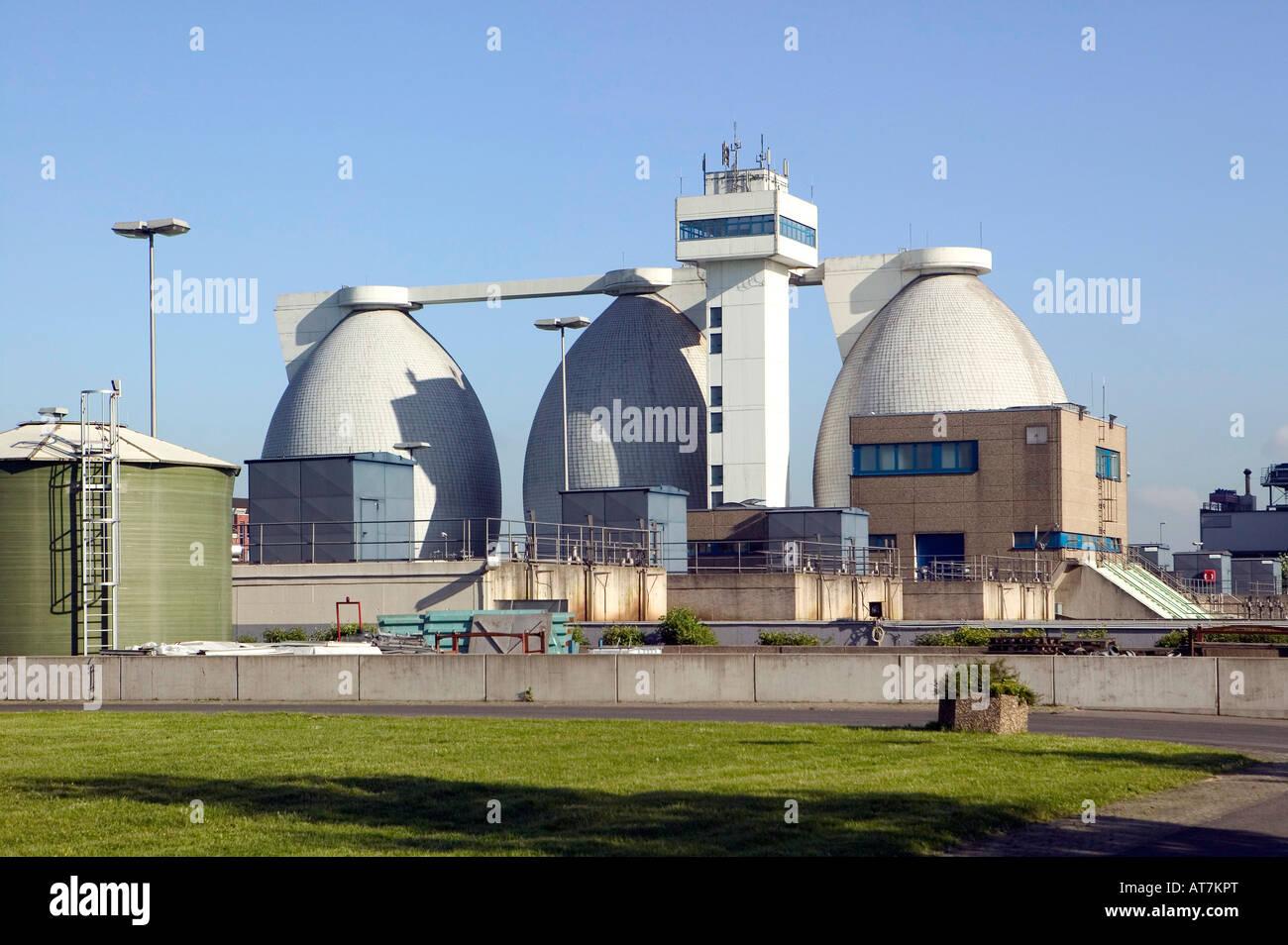 water treatment plant near Krefeld Germany - Stock Image