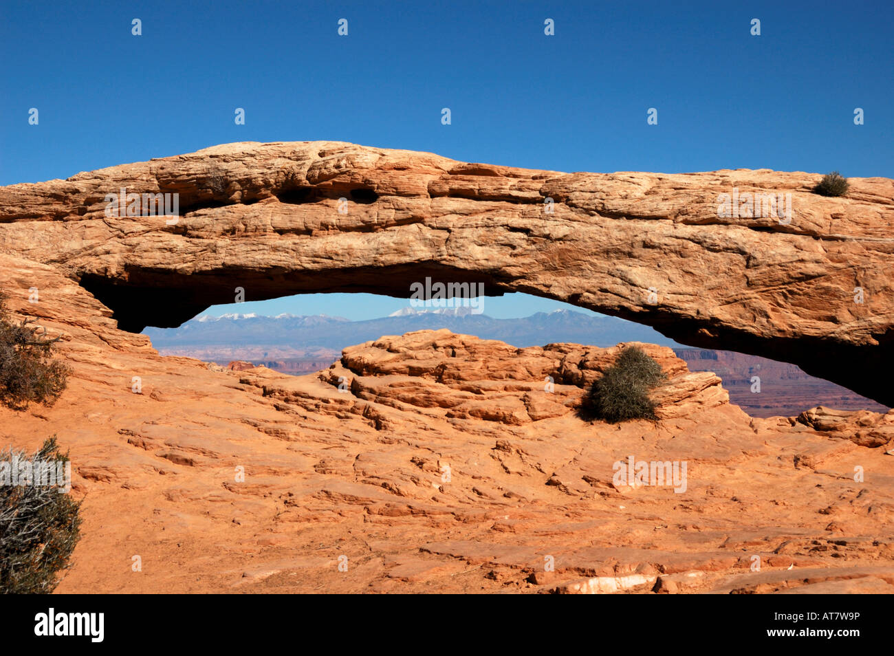 The Mesa Arch in the Canyonland National Park, Moab, Utah. - Stock Image
