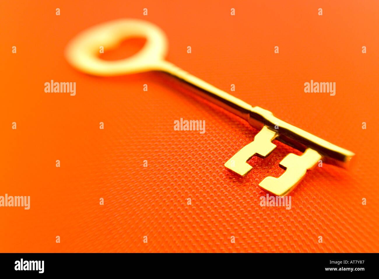 Bronze Key Brass - Stock Image