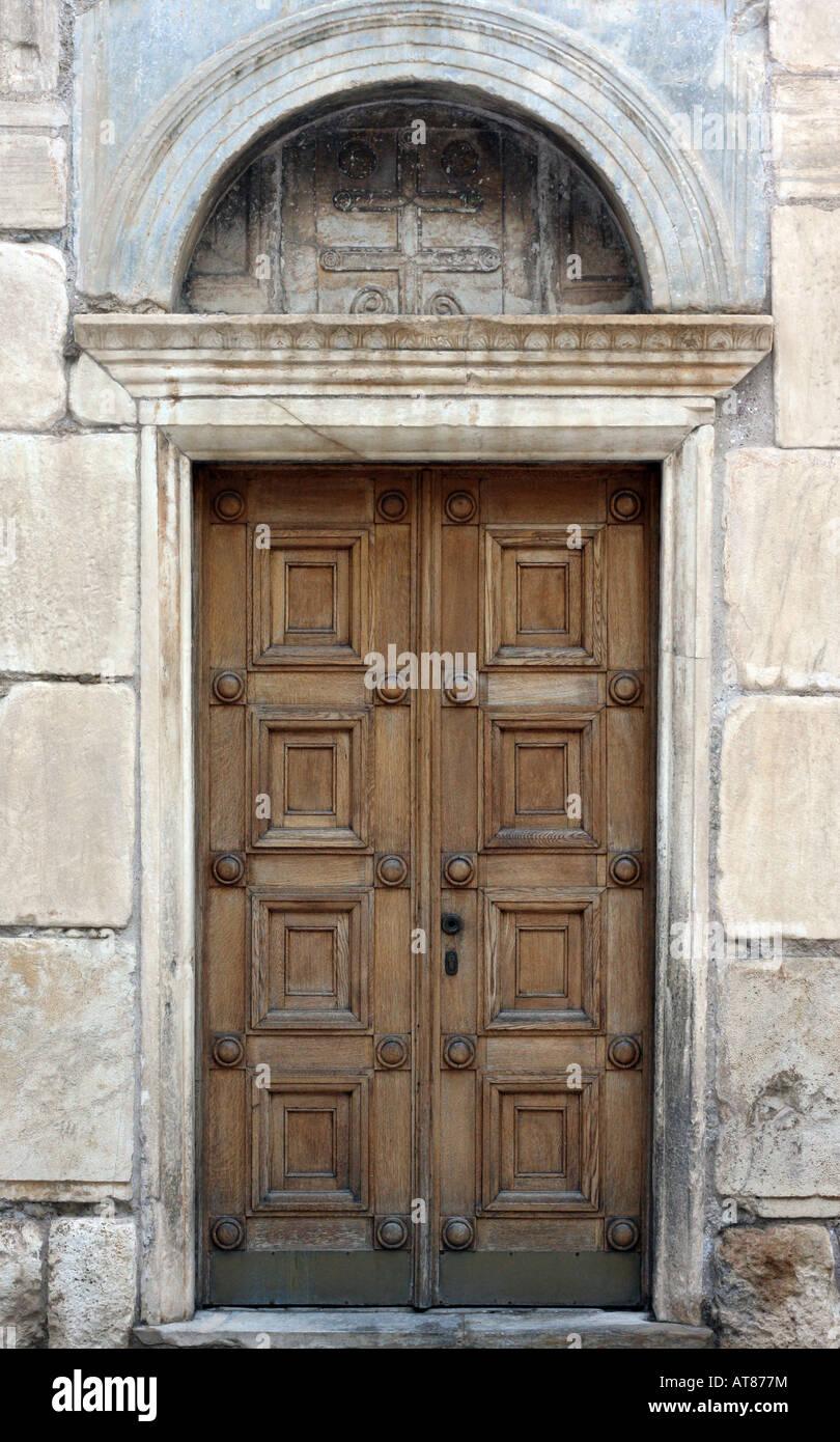 Antique Orthodox Church Door - Stock Image