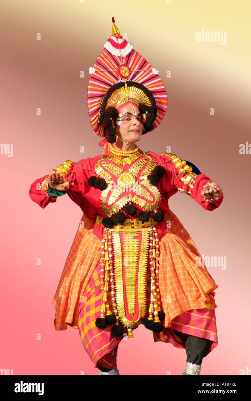 9e973c5311fa Dance costume Hindu festival image platt fields park environment Kathakali  dancer performer Kerala India ethnic