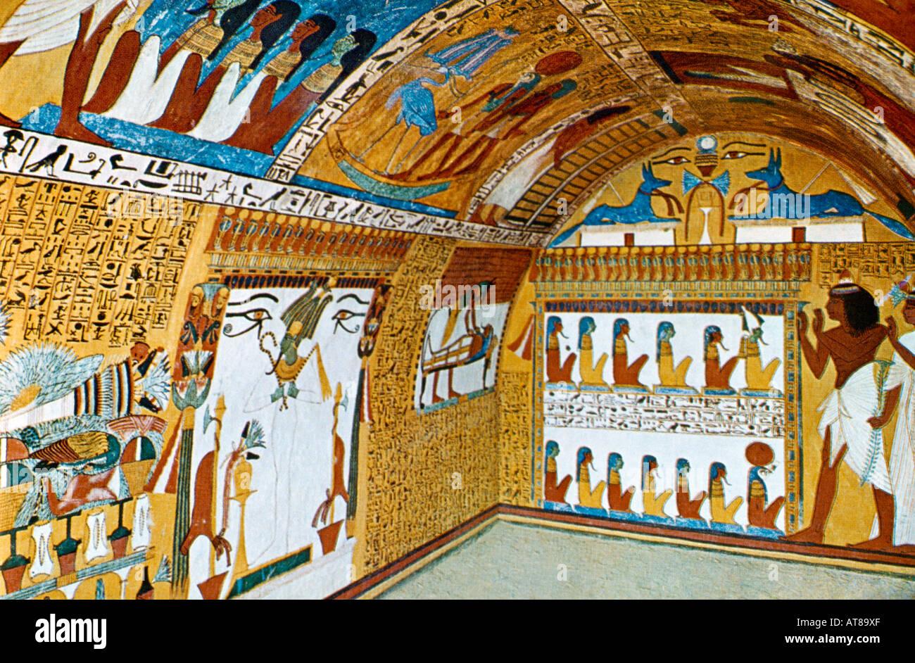 Luxor Egypt Deir El-madina Hinister Senedgem Tomb Painting On ...