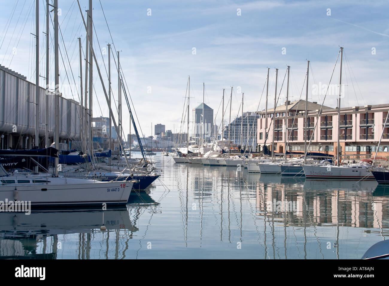 Old Port Genoa - Stock Image