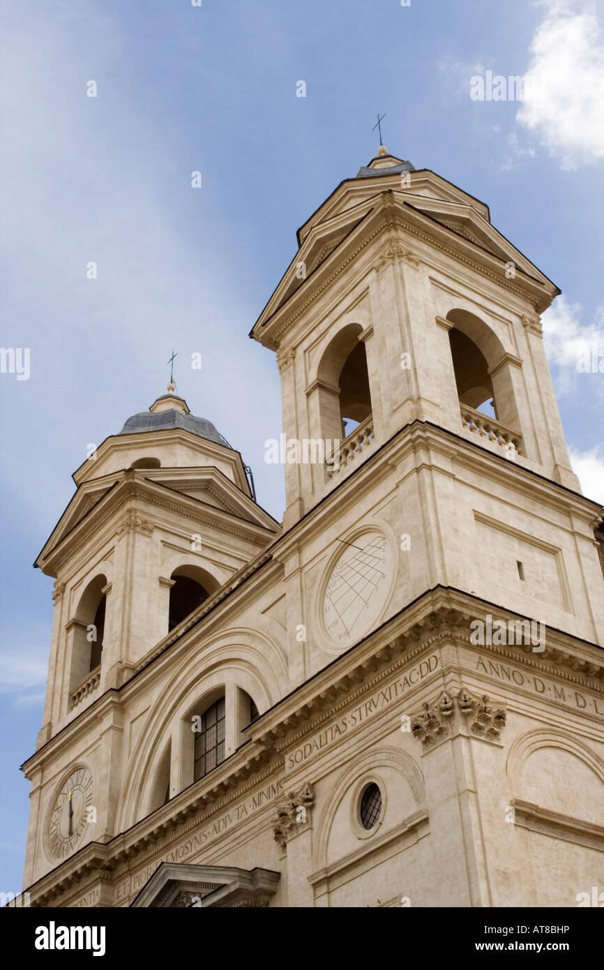Holy Trinity Church on Pincio Hill (Trinita' dei Monti), Rome, Italy Stock Photo