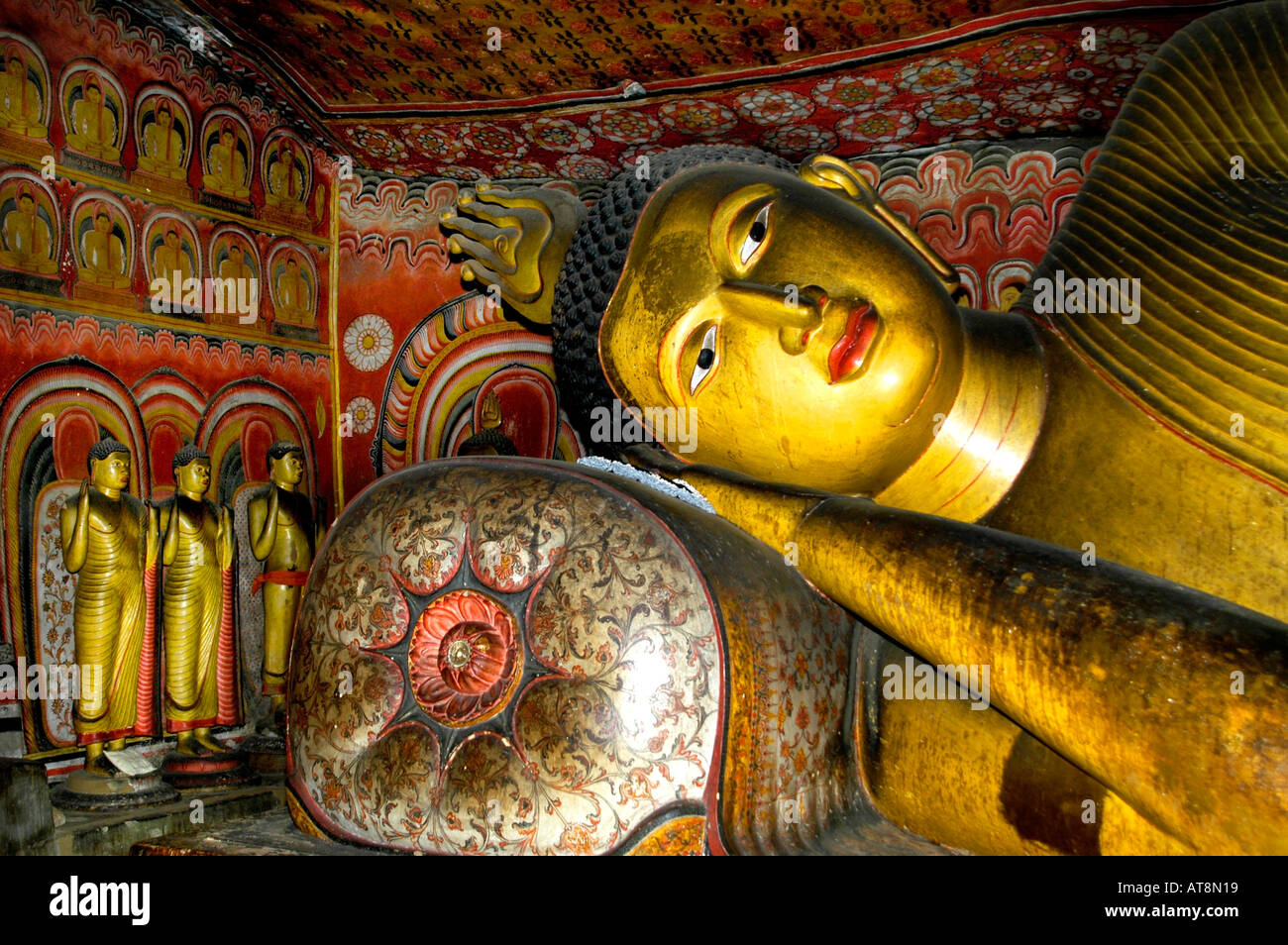 Dambulla cave temple  It is the largest and best preserved cave temple complex in Sri Lanka. - Stock Image