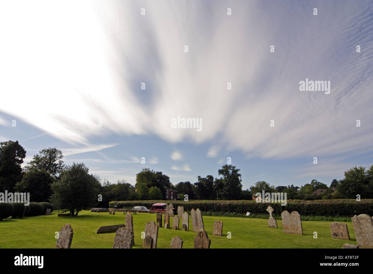 Unusual cloud formation in the summer at Lavenham Suffolk UK - Stock Image