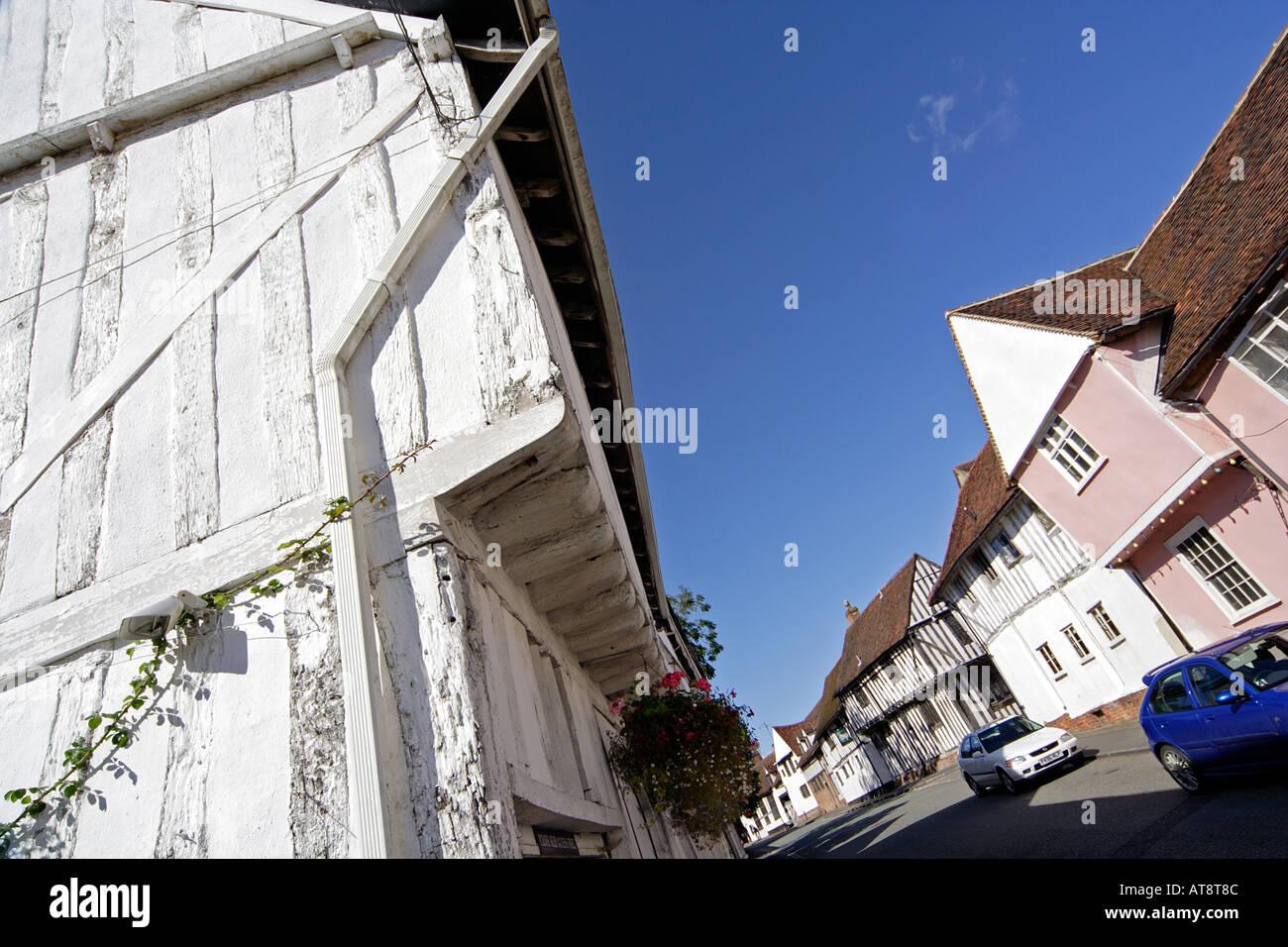 Lady Street Lavenham Suffolk UK - Stock Image