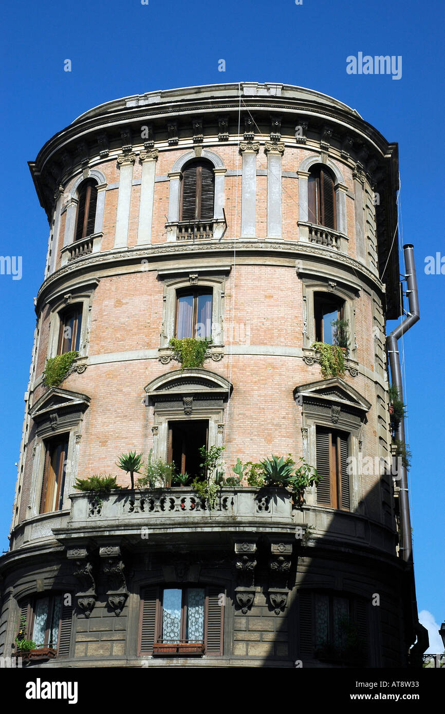 Attractive and unusual townhouse in Rome's historical centre - Stock Image