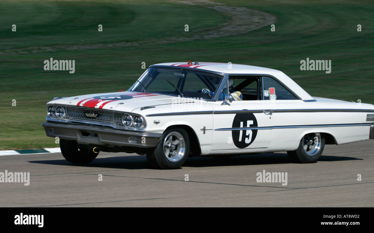 1963 ford galaxie 500 at goodwood revival sussex uk