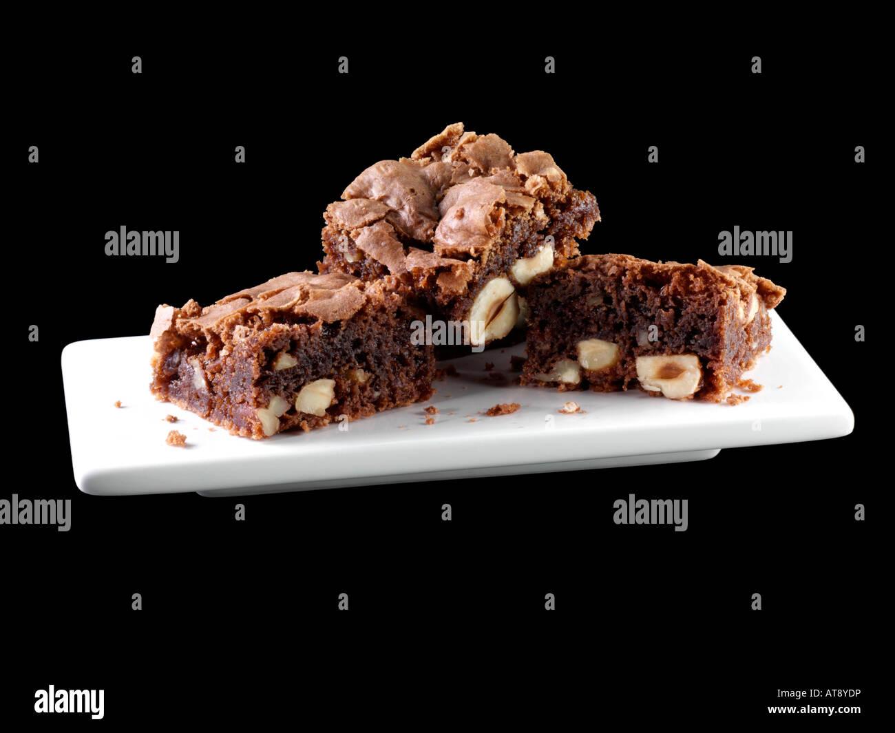 American chocolate brownies editorial food - Stock Image