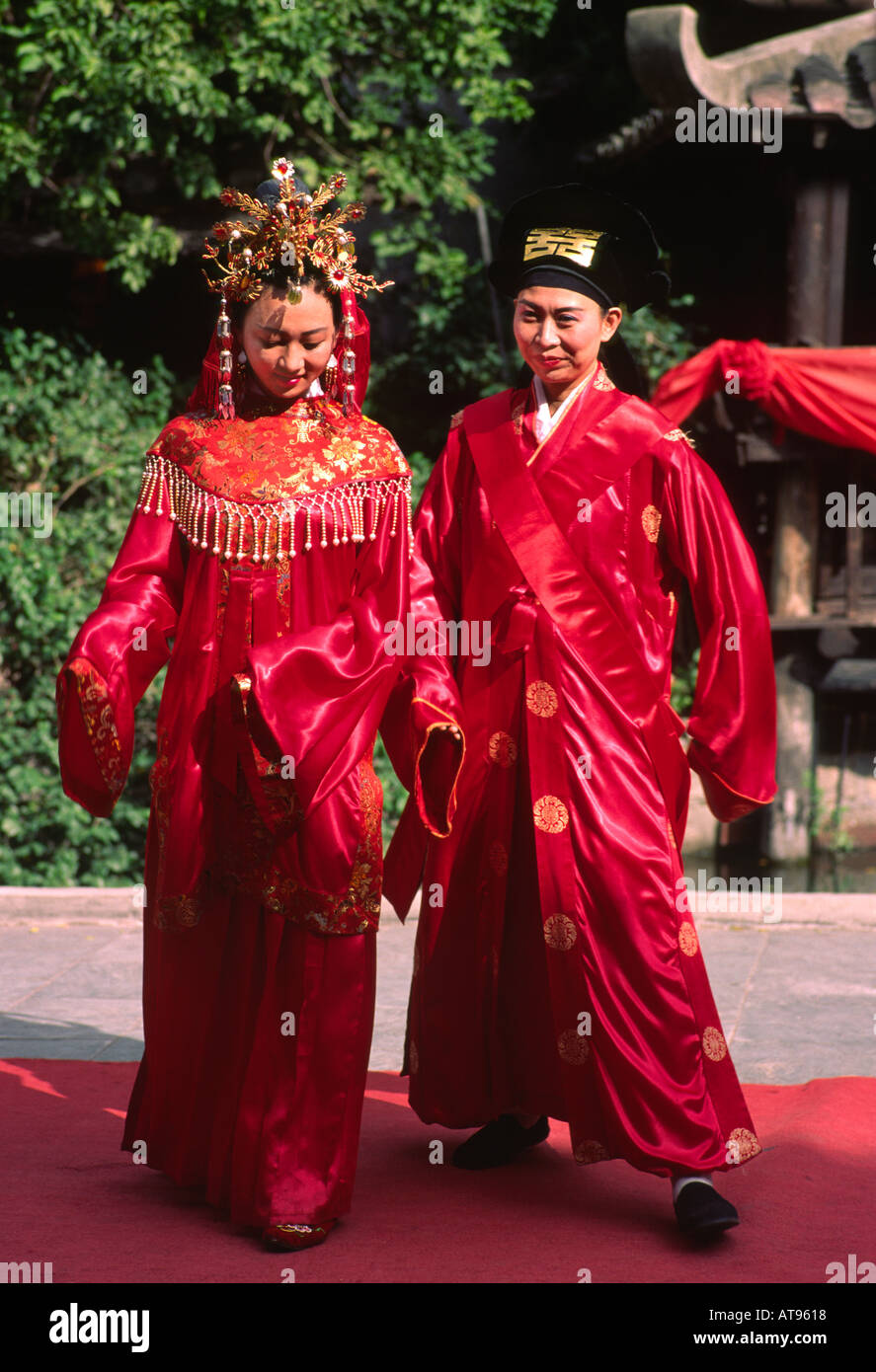 Traditional Chinese Wedding Robes Hong Kong Stock Photo Alamy