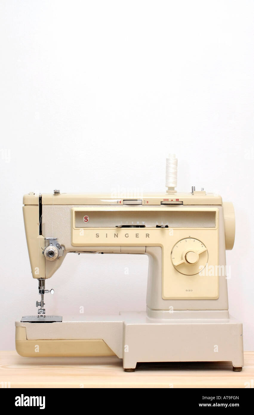 Old Singer sewing machine  Model Number 533 Stock Photo