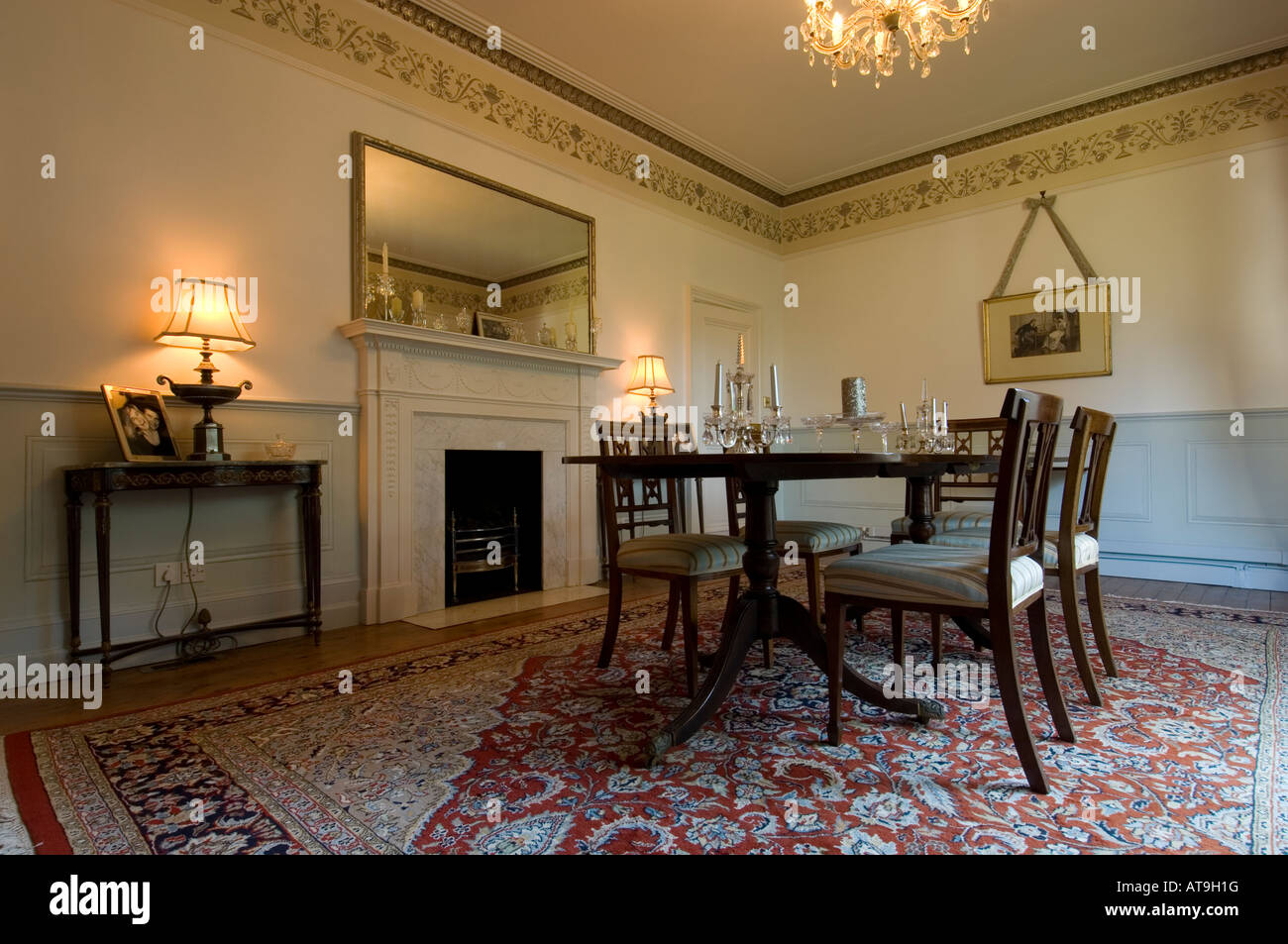 Dining Room In A Georgian House