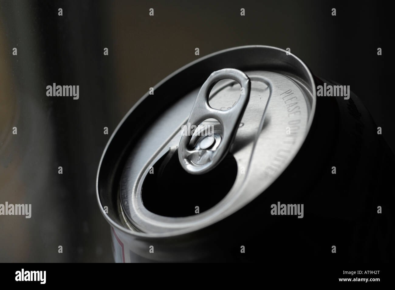 Top of beer or soda can Stock Photo