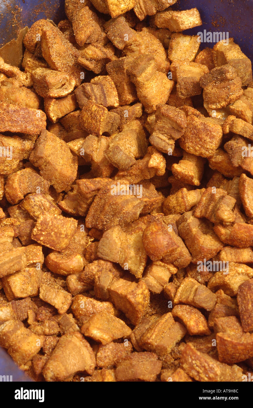 Lafayette Louisiana cajun pork cracklins - Stock Image