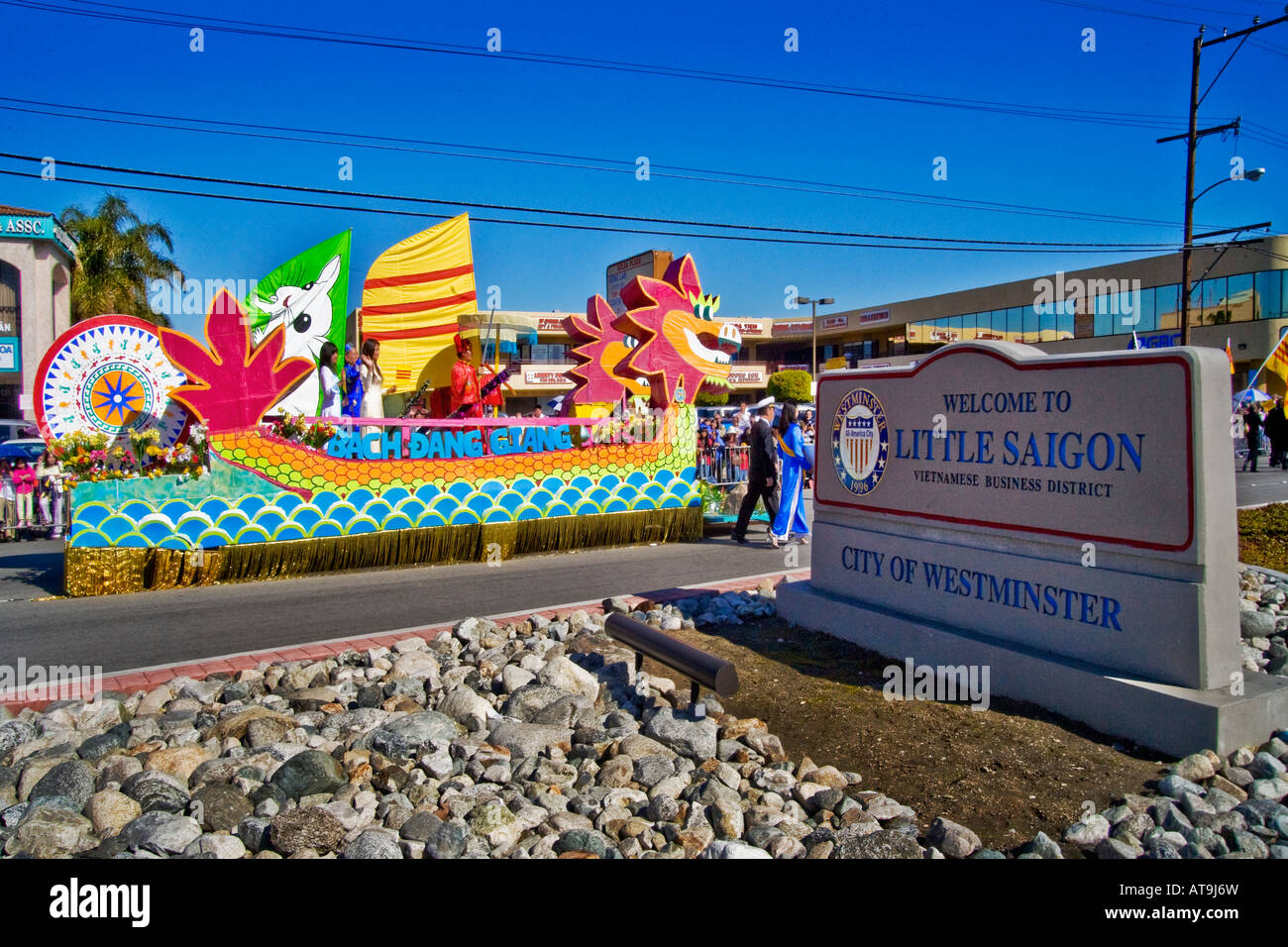 Tet Parade in 'Little Saigon,' Westminster, California - Stock Image