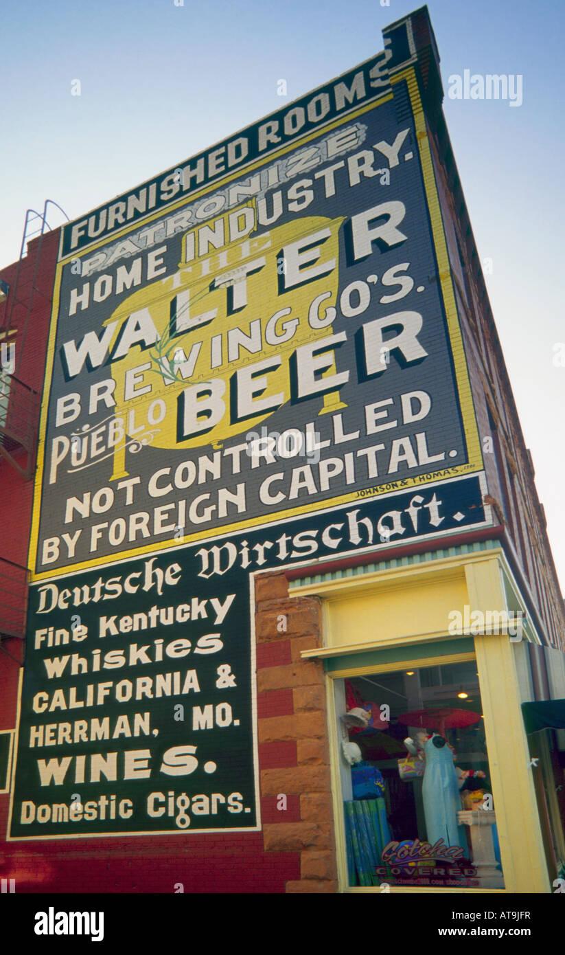 Historic advertising stock photos historic advertising for Medina motors pueblo co